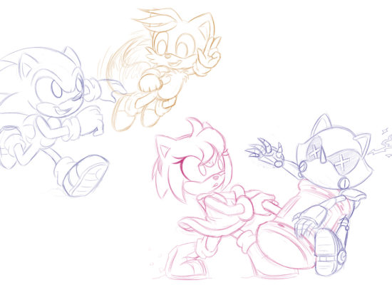 Sketch Study: Sonic Characters