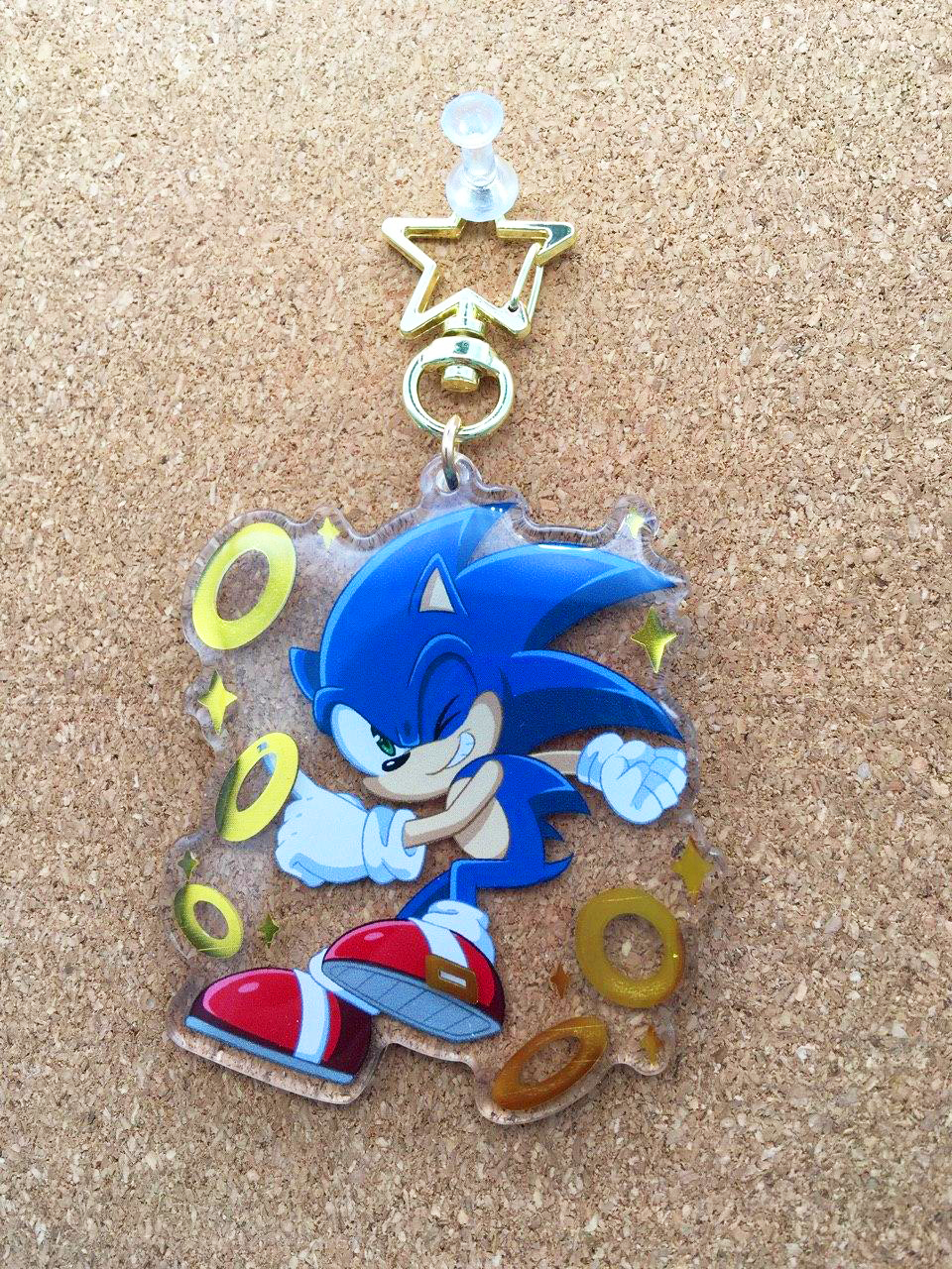 Pre Order Ring Bling Sonic Keychain Abigail Starling